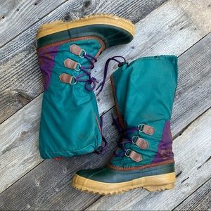 Vintage Sorel Nylon Tall Winter Boots